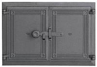 Дверки чугунные Halmat DCHP5 480X335. Дверцы для печи и барбекю