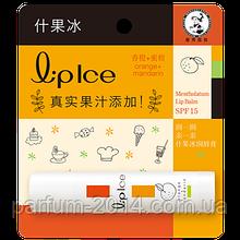 Гигиеническая помада - бальзам для губ Mentholatum Lip Ice с фруктовыми экстрактами Orange + Mandarin