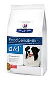 Hills PD Canine D/D 2 кг с лососем диета для собак при пищевой аллергии или непереносимости