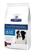 Hills PD Canine D/D 2 кг с уткой диета для собак при пищевой аллергии или непереносимости
