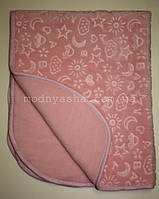 Одіяло дитяче плюшеве рожеве 247827