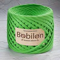 Пряжа трикотажная Bobilon Mini (5-7мм). Зеленое яблоко Bobilon