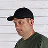Бейсболка с нашивкой Velcro – Черная, фото 5