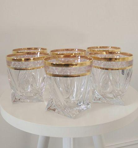 Набор стаканов для виски 6шт. Bohemia Quadro 2K936-340-43081-Ф
