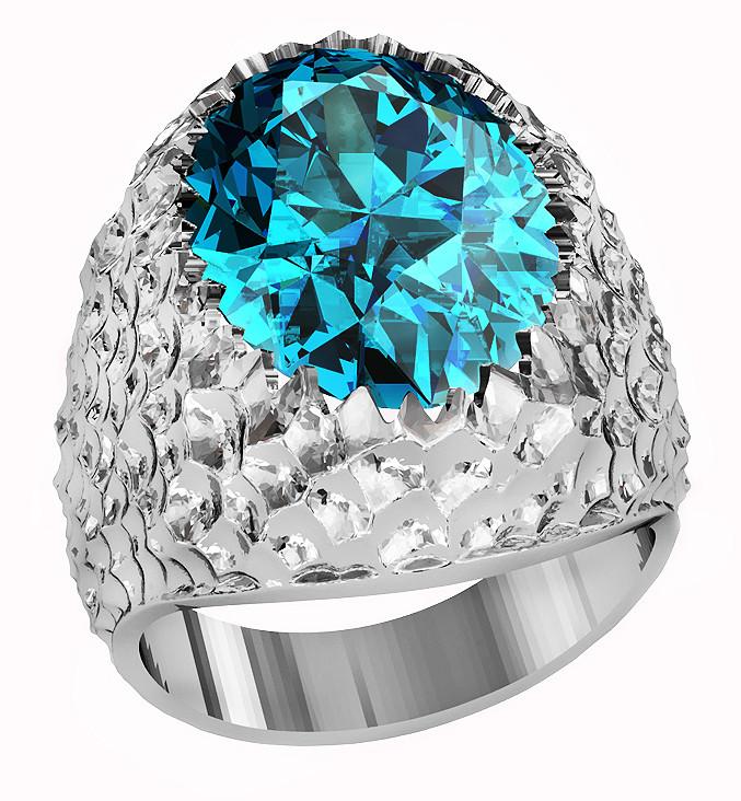 Кольцо  женское серебряное Sea 212 990
