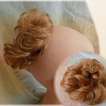 Резинка-шиньон из волос рыжий 977- 27