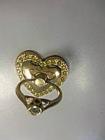 Кольцо-держатель для смартфонов и планшетов. Сердце. Медь-Crystal. 4х4,5см.