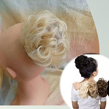 Резинка-шиньон из волос микс блонд 977-122/24