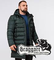 Куртка удлиненная зимняя Braggart Aggressive - 23482R темно-зеленая