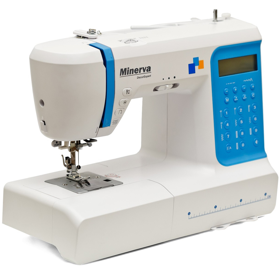 Minerva DecorExpert, компьютерная бытовая швейная машина, 8 шаблонов петель, 197 швейных операций