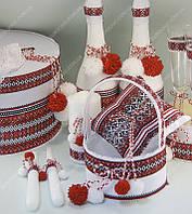 Свадебная корзинка для лепестков в украинском стиле класса Люкс