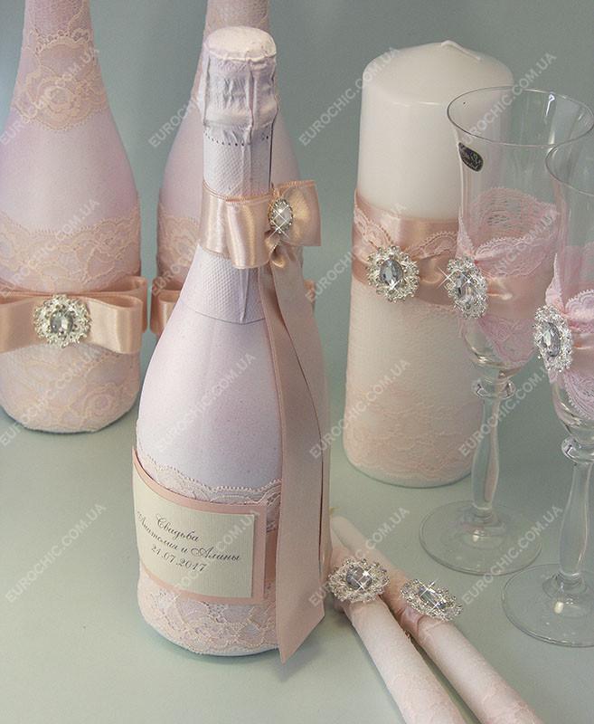 3c6c0f9f49b4d0e Свадебное Шампанское Оформление Кремово-розовое Класса Люкс — в ...