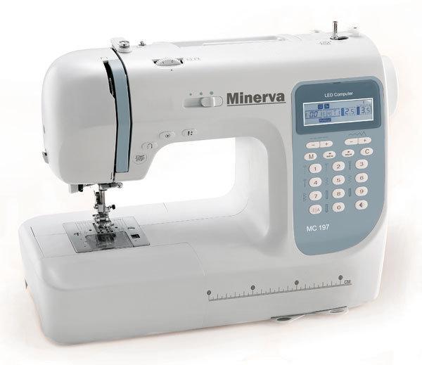 Minerva MC 197, компьютерная бытовая швейная машина, 8 шаблонов петель, 197 швейных операций
