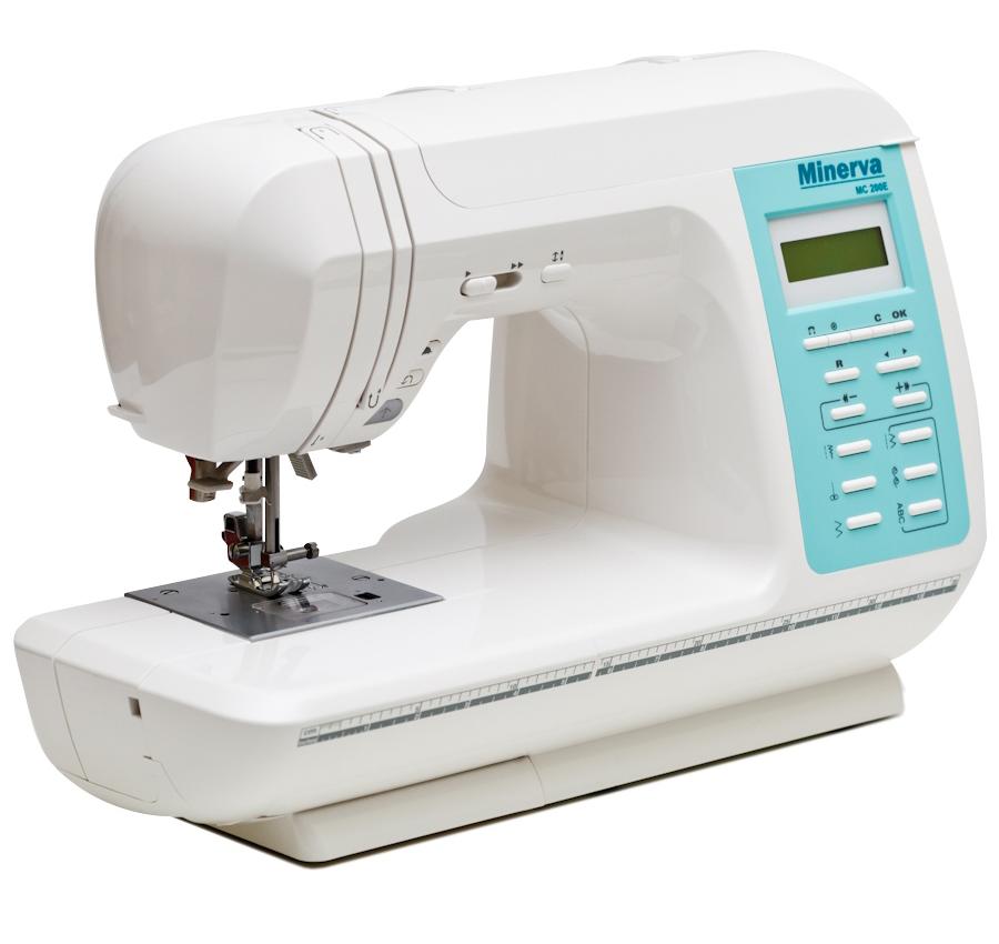 Minerva MC 200E, компьютерная швейная машина, 9 видов петель, 210 операций, подключаемый вышивальный блок