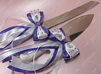 Украшение ножа и лопатки Лиловая сказка фиолетовое класса Люкс