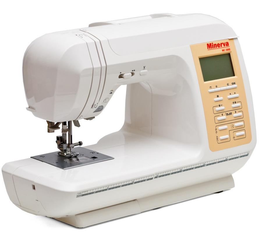 Minerva MC 300E, компьютерная швейная машина, 13 видов петель, 456 операций, подключаемый вышивальный блок