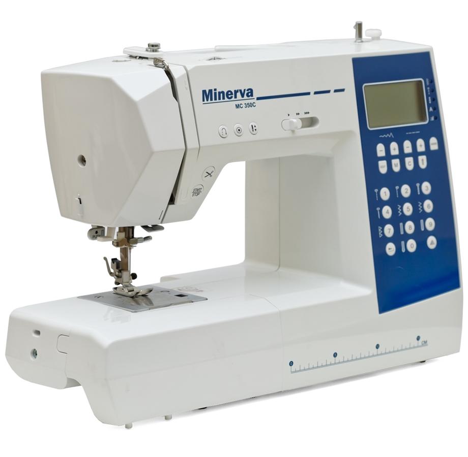 Minerva MC 350C, компьютерная швейная машина с автоматической обрезкой нити, 11 шаблонов петель, 310 швейных операций