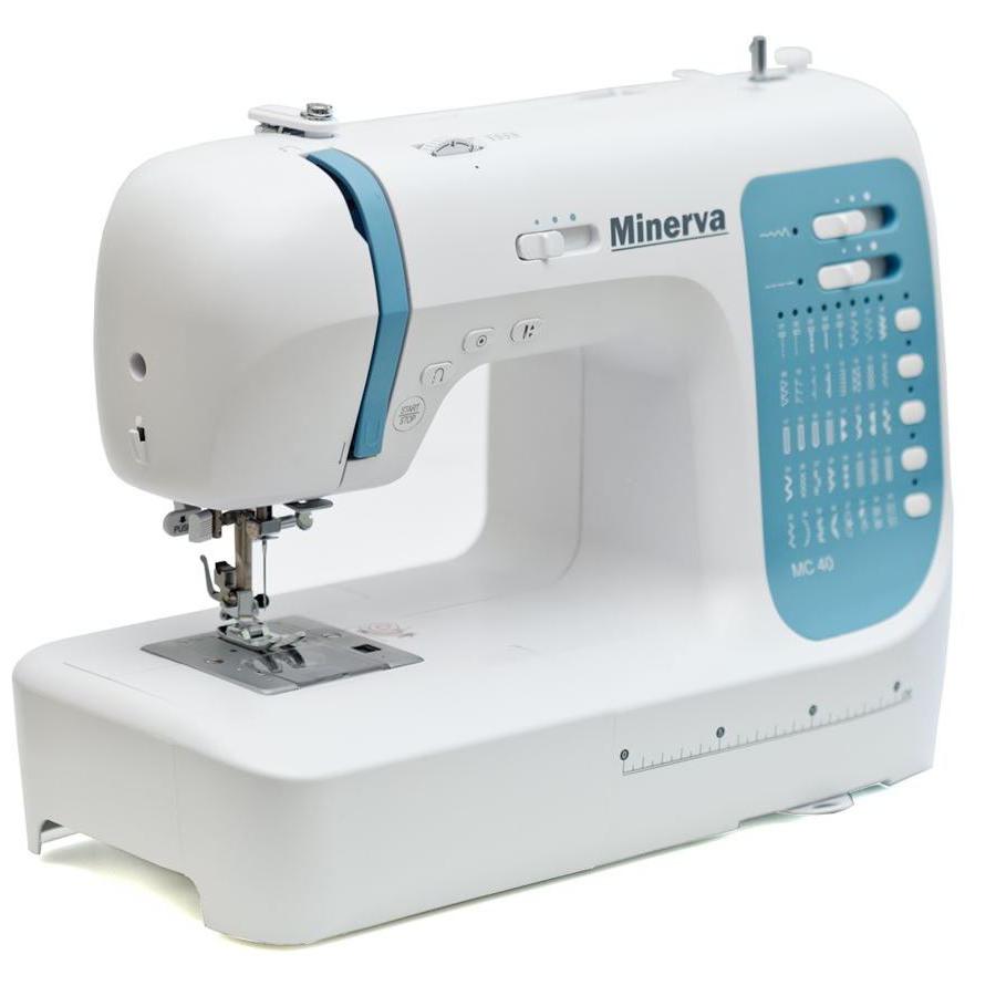 Minerva MC 40HC, компьютерная бытовая швейная машина с жестким чехлом, 3 петли, 40 швейных операций