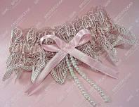 Подвязка невесты Искушение Розовая класса Люкс