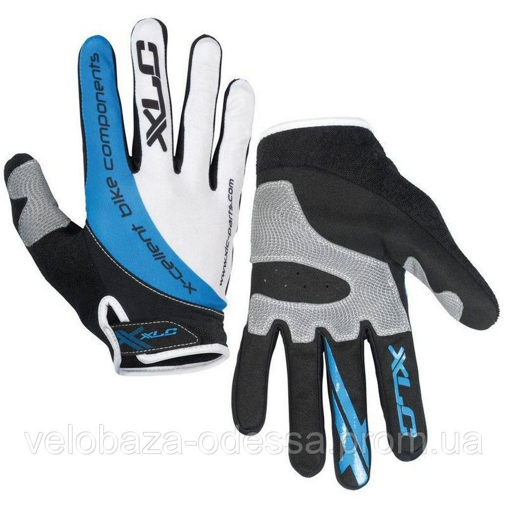 Перчатки XLC CG-L04 Mercury, черно-серо-синие, L
