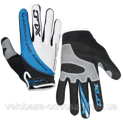 Перчатки XLC CG-L04 Mercury, черно-серо-синие, L, фото 2