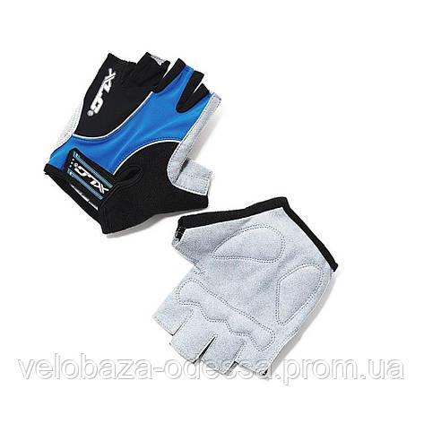 Перчатки XLC CG-S04 Atlantis, сине-серо-черные, L, фото 2