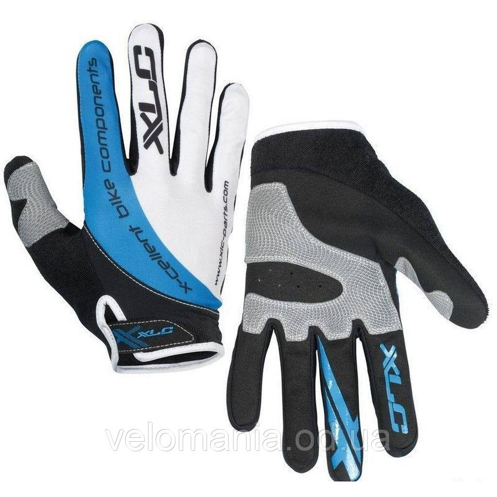 Перчатки XLC CG-L04 Mercury, черно-серо-синие, XL