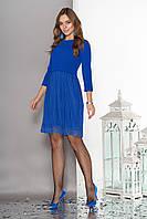 Ярко-синее платье с кружевом по низу 44-50рр., фото 1