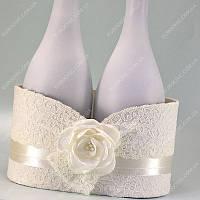 Корзина для шампанского Кружевная айвори класса Люкс