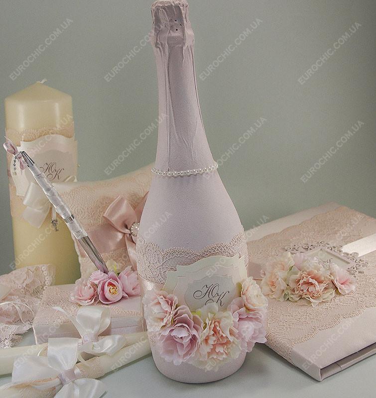 a9810b89aaeb7d3 Свадебное шампанское пудровое кружевное с цветами класса Люкс, цена 298  грн., купить в Харькове — Prom.ua (ID#854245241)