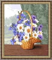 """Картина гобеленовая """"Подарок маме"""" 32х25см в багетной раме"""