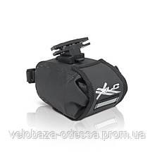 Сумка подседельная XLC BA-W22, черно-серая, 17x10x11 см