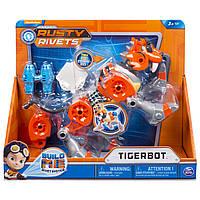 Игровой набор Расти-Механик Тигрбот с огнями и звуком/ Rusty Rivets Tigerbot