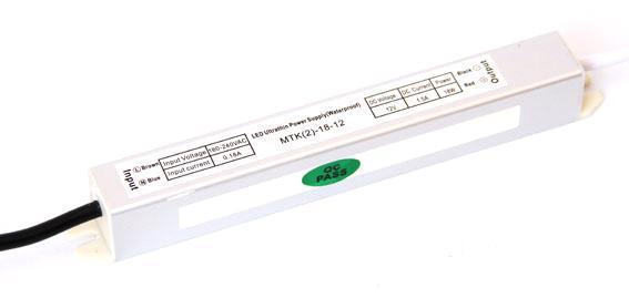 Блок питания 12V 18W (1.5A) slim IP67