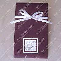 Приглашения на свадьбу Элегантность фиолетовые класса Люкс