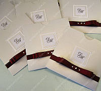 Приглашения на свадьбу Орион перламутрово-бордовые класса Люкс