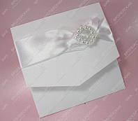 Приглашения на свадьбу Жемчужина белые класса Люкс