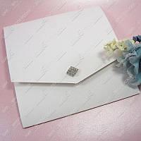 Приглашения на свадьбу Изящный стиль белые  класса Люкс
