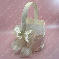 Корзинки для лепестков роз Роскошный бантик Айвори класса Люкс