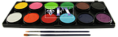 Палитра аквагрим Diamond FX основные 12 цветов по 10 g.