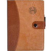Блокнот 18×13 см с ручкой в обложке кож/зам, клетка 6736        6736
