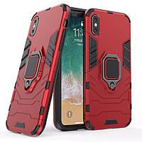Чехол Ring Armor для Apple iPhone X Красный