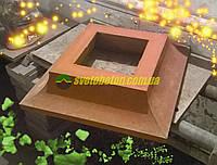 Подставка садовых фигур цокольный блок наборного столба ворот калитки забора, крышка, накрытие.