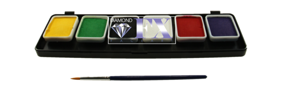 Палитра аквагрим Diamond FX основные 6 цветов по 6 g.