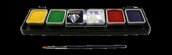 Палитра аквагрим Diamond FX основные 6 цветов по 6 g., фото 2