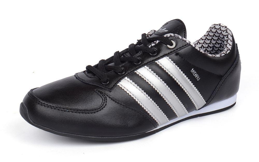code promo c3ce8 18791 Кроссовки кожаные черные с белым Adidas Midiru Индонезия, Черный, 36