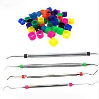 Цветные силиконовые маркировки ( кодировка ) для стоматологических инструментов - автоклавируемые