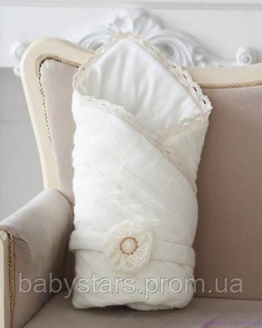 Демисезонный конверт для новорожденных на трикотаже