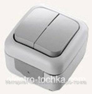 VI-KO PALMIYE  выключатель двойной  IP-54 (серый)