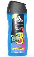 Гель Для Душа 3 В 1 Adidas Team Five Mentol (Код:1710) Состояние: НОВОЕ